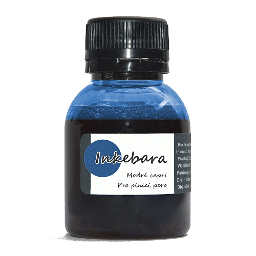 Inkebara modrá capri, plnicí pera 60 ml