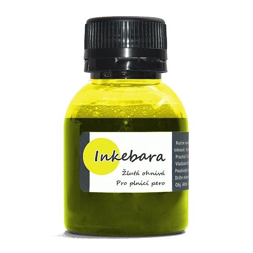 Inkoust do plnicích per Inkebara, žlutá ohnivá 60 ml