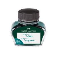 Tyrkysový inkoust Faber-Castell pro plnicí pera, 30 ml