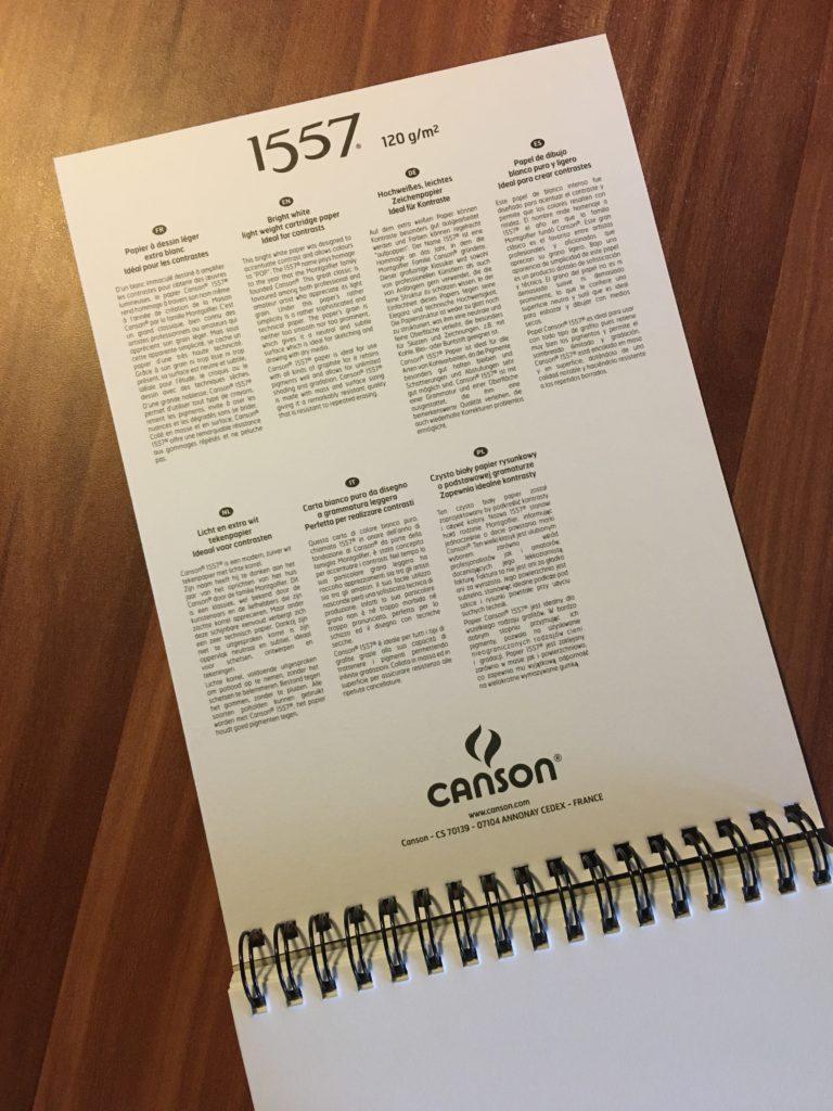 Skicák Canson 1557, 120 g/m2