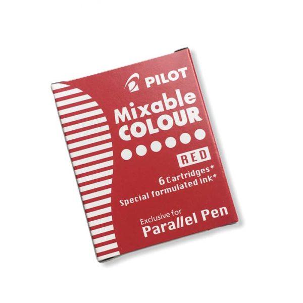 Bombičky do pera Pilot Parallel Pen, červené, 6 ks
